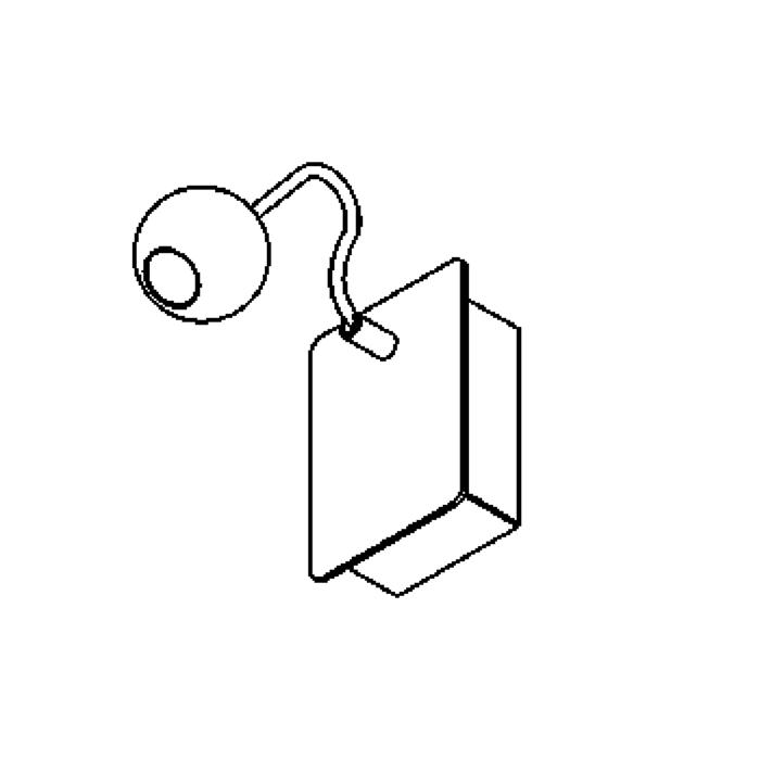 Drawing of 3021B/.. - ORKA WALL, opbouw wandlicht - richtbaar - zonder schakelaar - met LED driver