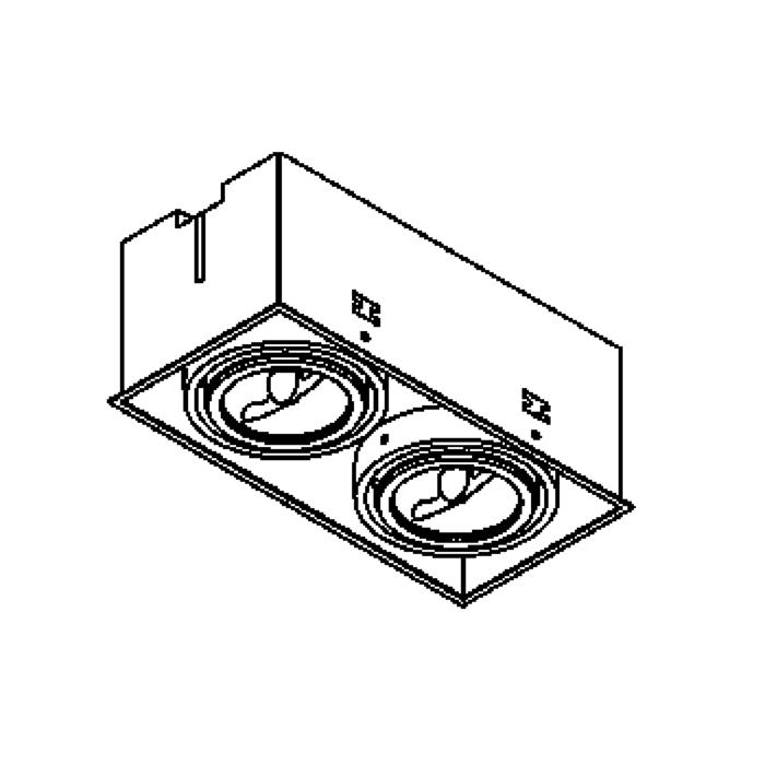 Drawing of 1872/.. - SPINNER X AR70, inbouw plafondverlichting - vierkant - richtbaar - zonder transfo