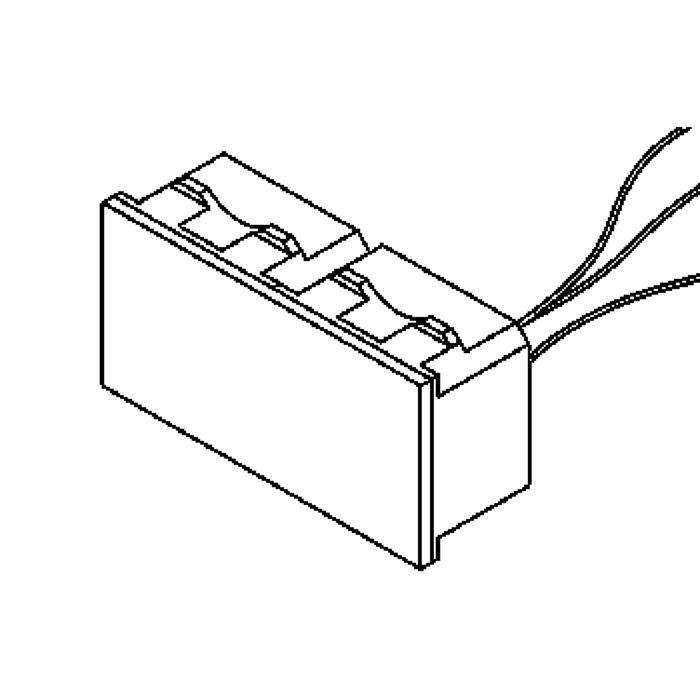 Drawing of 1636.230V/.. - BRUNA voor frame bticino Magic, inbouw wandlicht
