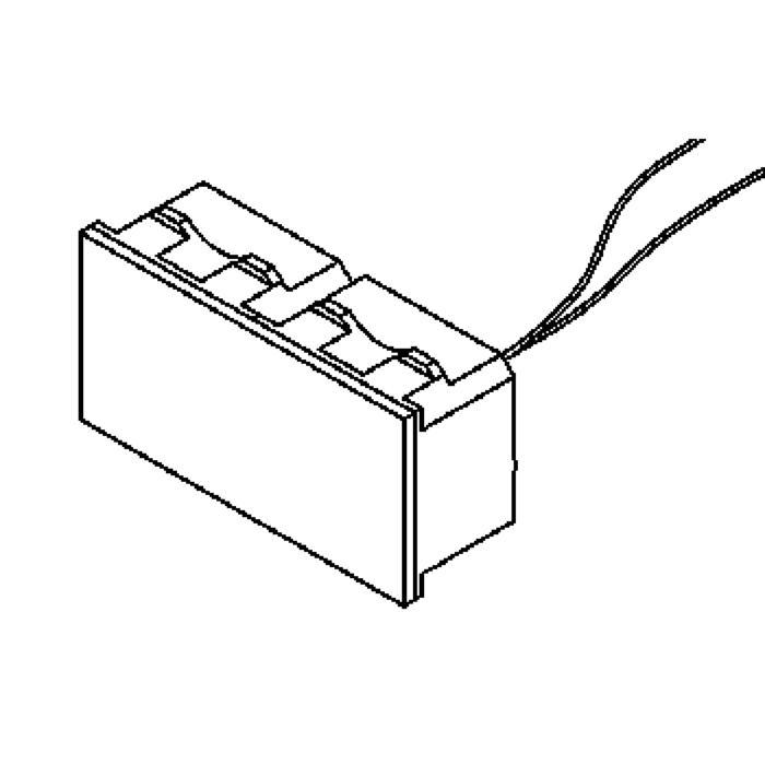 Drawing of 1636.24V-DC/.. - BRUNA voor frame bticino, inbouw wandlicht - gelijkstroom - zonder transfo