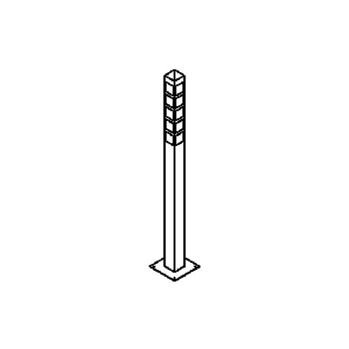 Drawing of T207/.. - DAKAR, tuinpaal - met transfo