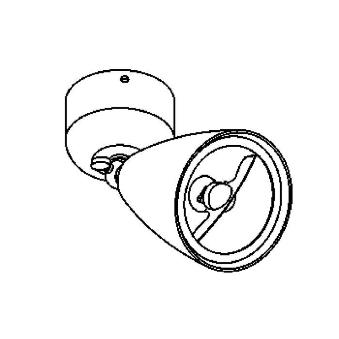 Drawing of 1957/.. - VOLTA, opbouw plafond -of wandlicht - richtbaar - zonder transfo