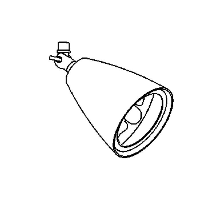 Drawing of 1956/.. - VOLTA 12V, opbouwspot M10 - rond - richtbaar - zonder tige - zonder transfo