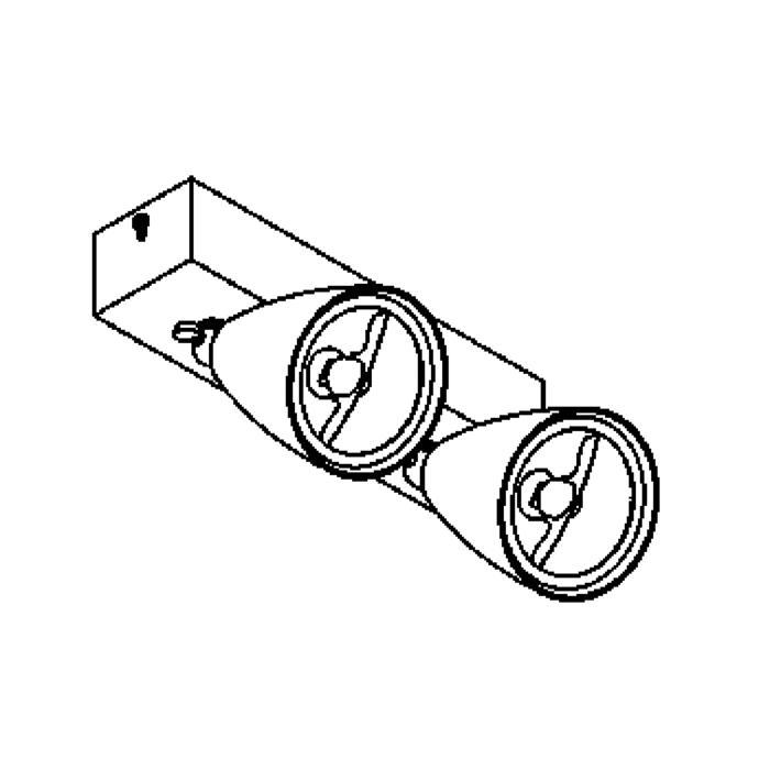 Drawing of 1959B/.. - VOLTA + JUBA 2, opbouw plafond -of wandlicht - richtbaar - met transfo