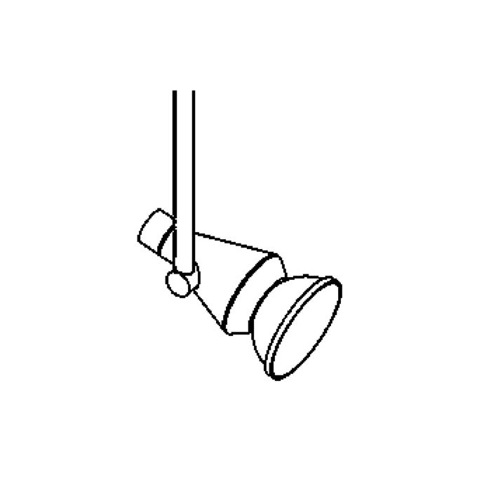 Drawing of 1960.30/.. - VIOLA 12V, opbouwspot M10 - rond - richtbaar - zonder transfo