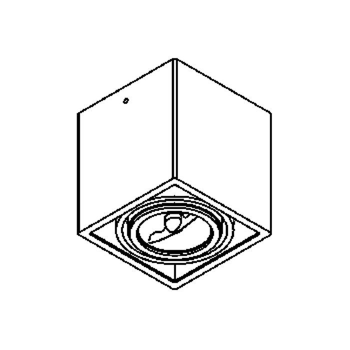 Drawing of 1875/.. - SPINNER X AR70, opbouw plafondverlichting - richtbaar - down - met transfo