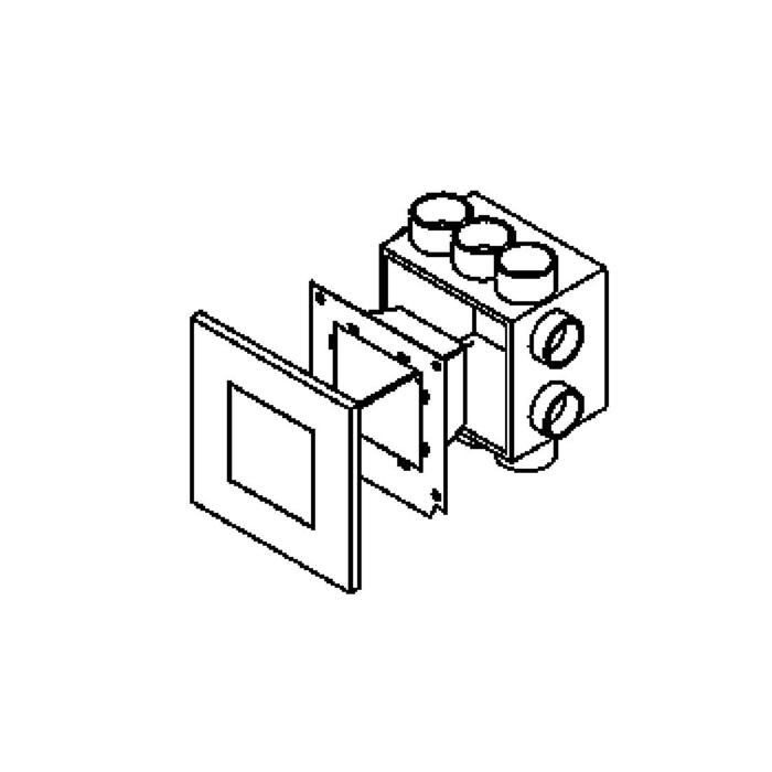 Drawing of 1630B/.. - MIA, inbouw wandlicht - compleet met frontplaat