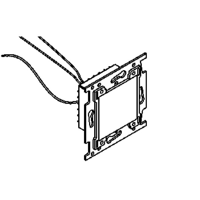 Drawing of 1634B.230V/.. - MIA X  - voor niko afdekkader, inbouw wandlicht