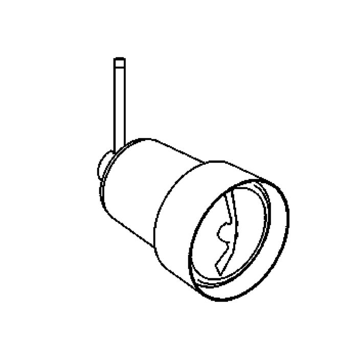 Drawing of 1952.M10/.. - FLASH M10, opbouwspot M10 - rond - zonder transfo