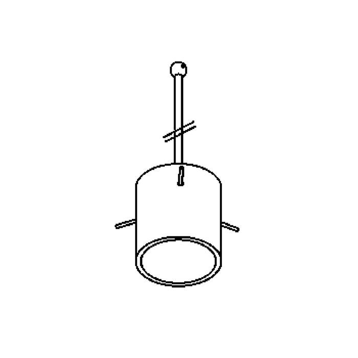 Drawing of 4028.B3/.. - GUILIA C, hanglamp met bolgewricht - stang inkortbaar - glas GL2718CG wit-grijs inbegrepen - zonder transfo