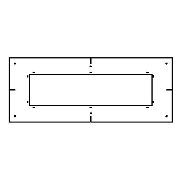 Drawing of 1884A/.. - SPINNER X FORUM plasterkit, plaasterkit 4 modules - vierkant