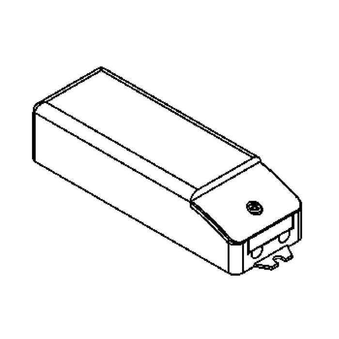 Drawing of OT9D.350MA/.. - DRIVER OT9/200-240/350, dimbare driver - 9W 350mA - voor 6 LEDs x 1W - in serie