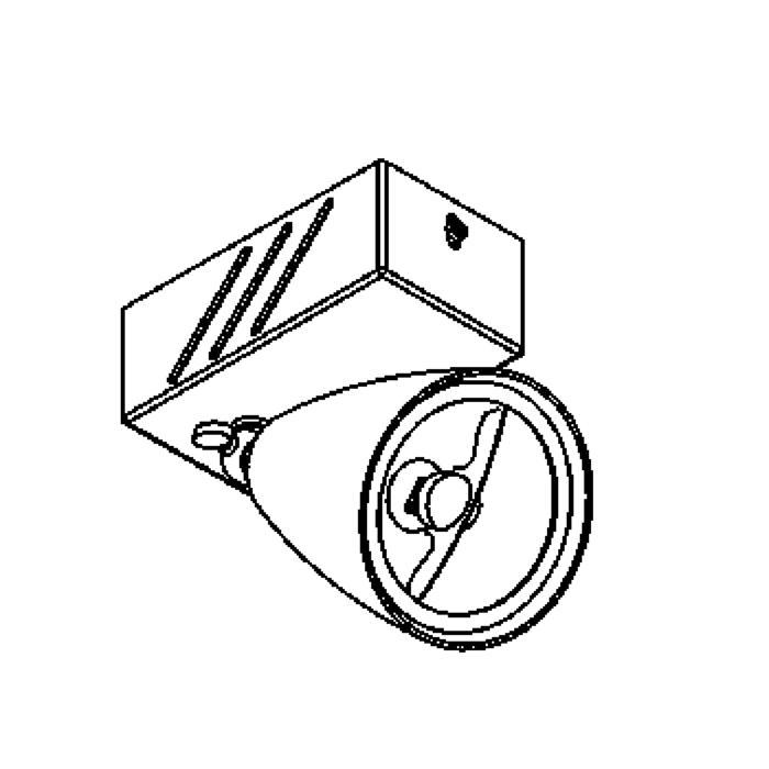 Drawing of 1959A/.. - VOLTA + JUBA 1, opbouw plafond -of wandlicht - richtbaar - met transfo