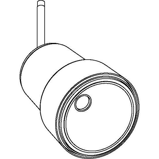 Drawing of 1952.XTM.M10/.. - FLASH M10, opbouwspot M10 - richtbaar - zonder LED driver