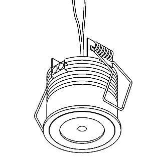 Drawing of W1370/.. - FELIX, inbouwspot voor verandaprofielen - rond - vast - down - zonder LED driver