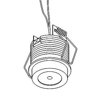 Drawing of W1371/.. - FELIX, inbouwspot voor verandaprofielen - rond - vast - down - met optische lens in alu behuizing - zonder LED driver