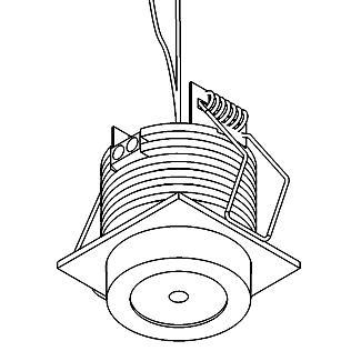 Drawing of W1376/.. - FELIX, inbouwspot voor verandaprofielen - vierkant - vast - down - met optische lens in plexi behuizing - zonder LED driver