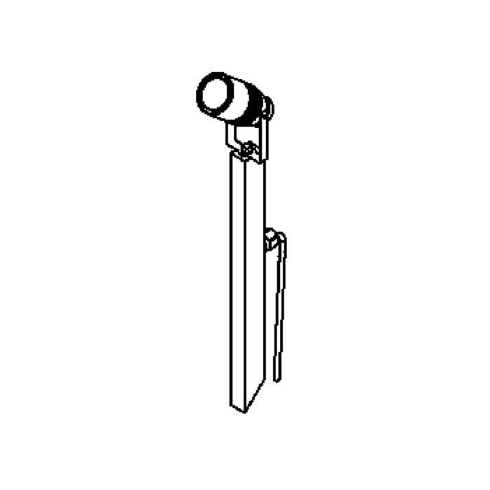 Drawing of T7033.45/.. - UFO GRANDE, tuinpaal met grondpin - met glas