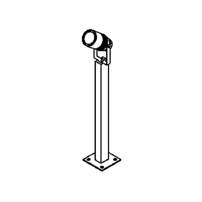 Drawing of T7036.65/.. - UFO GRANDE, tuinpaal - met glas