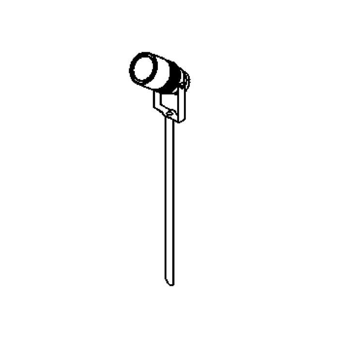 Drawing of T7030/.. - UFO GRANDE, tuinpaal met grondpin - met 1,5m kabel - met glas