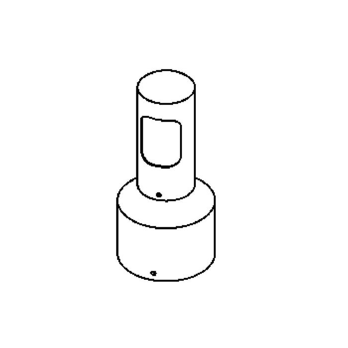 Drawing of T100.B/.. - IRIS, tuinpaal - met transfo