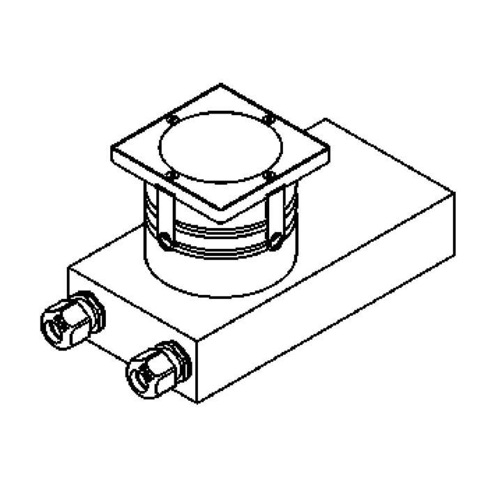 Drawing of 1147./.. - ETNA, vloerspot met inwerkkader gelijk met de bevloering - met transfo