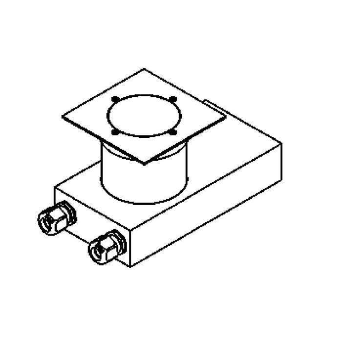 Drawing of 2257.X/.. - ETNA, grondspot met afdekkader op de bevloering - vast - met transfo