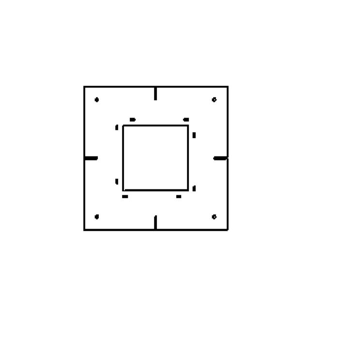 Drawing of 1859A/.. - SPINNER X plasterkit, plaasterkit - vierkant