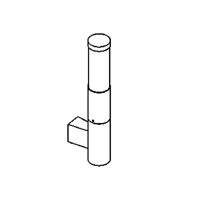 Drawing of W1058C/.. - IRIS, opbouw wandlicht - up