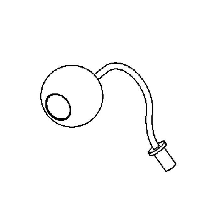 Drawing of 3023.300/.. - ORKA M10, spot apparent LED M10 avec tube flexible - rond - orientable - down - sans driver LED