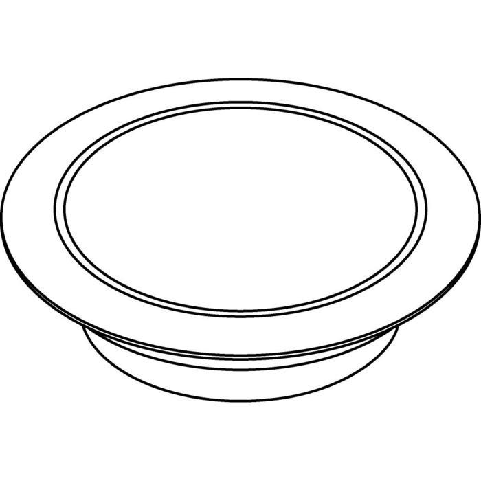 Drawing of W1680.OP/.. - CATWALK, inbouw vloer- of wandlicht - rond - met opale plexi (OP)