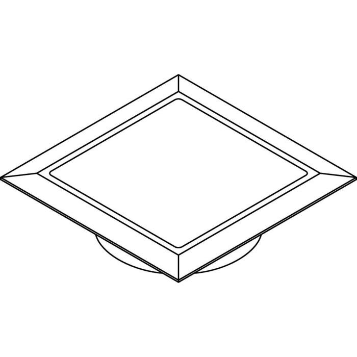 Drawing of W1684.OP/.. - CATWALK, built-in floor or wall light - square - with opal plexi (OP)