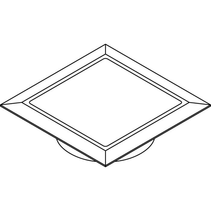 Drawing of W1684.OP/.. - CATWALK, inbouw vloer- of wandlicht - vierkant - met opale plexi (OP)