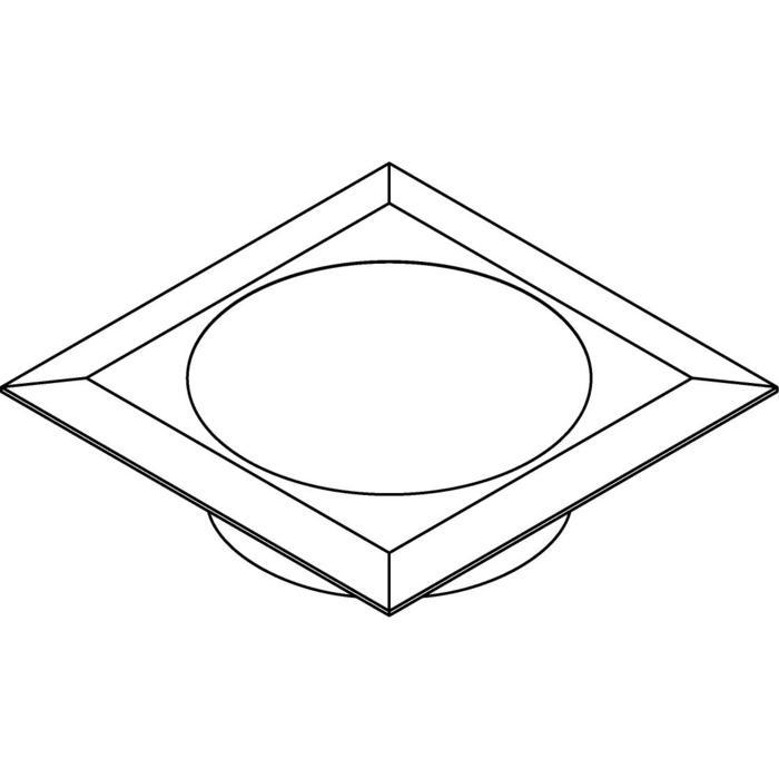 Drawing of W1683.OP/.. - CATWALK, inbouw vloer- of wandlicht - vierkant - met opale plexi (OP) - zonder transfo