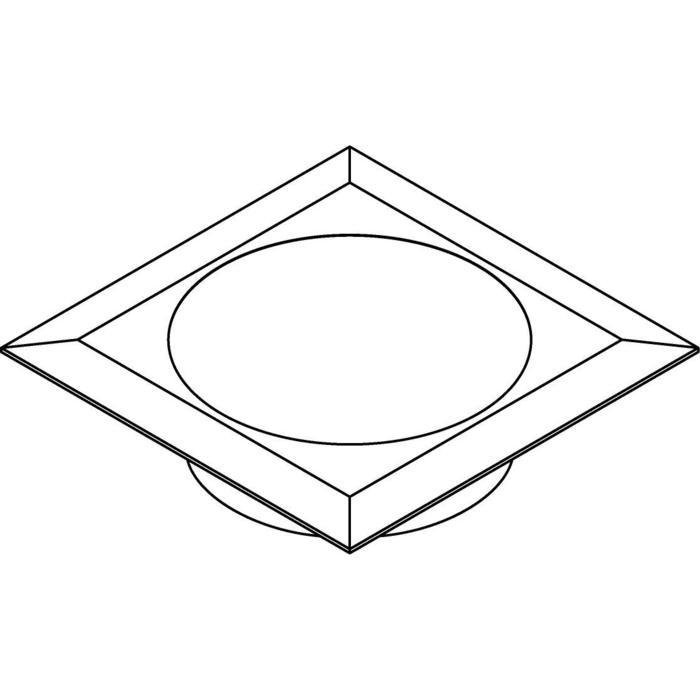 Drawing of 1672.OP/.. - CATWALK, inbouw wand-, plafond- of vloerlicht - met opale plexi (OP)