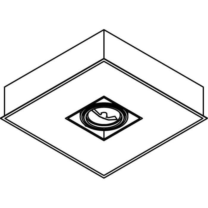 Drawing of 645IN.QR/.. - MONET 400 INBOUW, inbouw plafondverlichting - met transfo - met electronische ballast