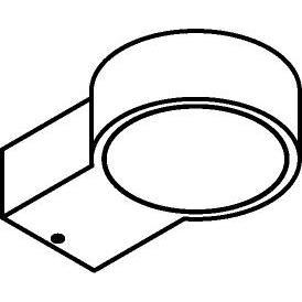 Drawing of W3120/.. - OMEGA, opbouw wandlicht - down