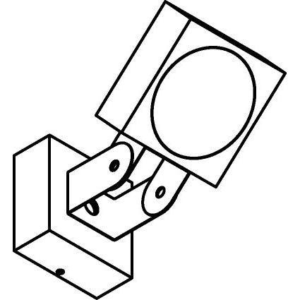 Drawing of W661/.. - ZAMORA, opbouw wandlicht - richtbaar - down
