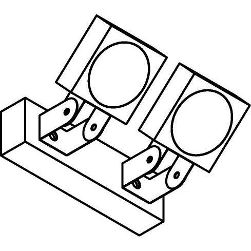 Drawing of W662/.. - ZAMORA, opbouw wandlicht - richtbaar - down