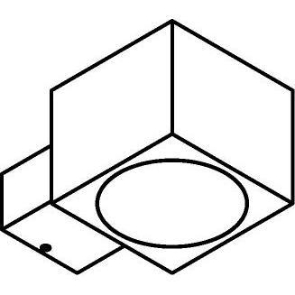 Drawing of W663/.. - ZAMORA, opbouw wandlicht - vast - down/up