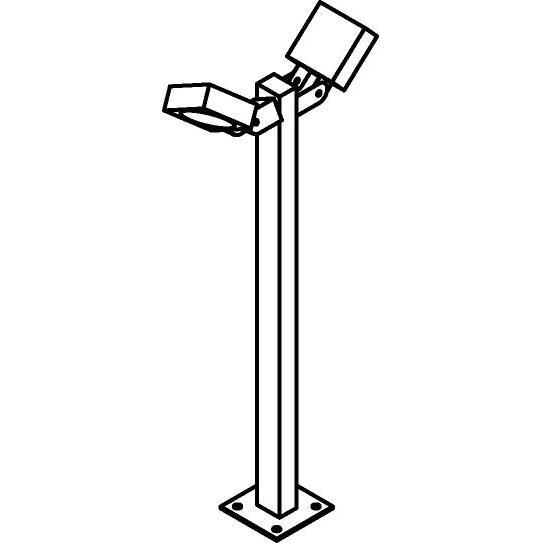 Drawing of T666/.. - ZAMORA, tuinpaal - richtbaar