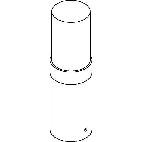Drawing of T726/.. - RADON, tuinpaal - rond - vast