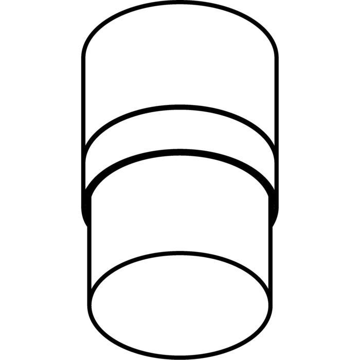 Drawing of W3146/.. - MANTA UP, opbouw plafondverlichting - rond - vast - met hoog mat glas
