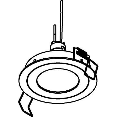 Drawing of PICO50.S1/.. - Ø80, inbouwspot - rond - vast - zonder transfo