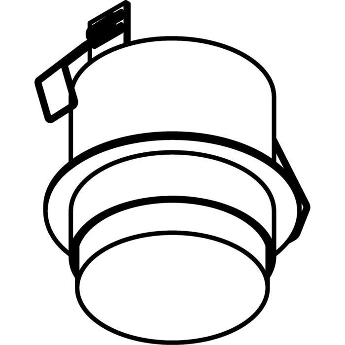 Drawing of W3155/.. - MANTA IN DOUCHE, half in- en opbouw plafondverlichting - rond - vast - met hoog mat glas - zonder transfo