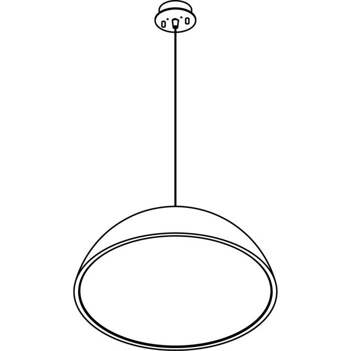 Drawing of 1487/.. - NOTRE DAME, hanglamp met hoogteregelaar - met electronische ballast