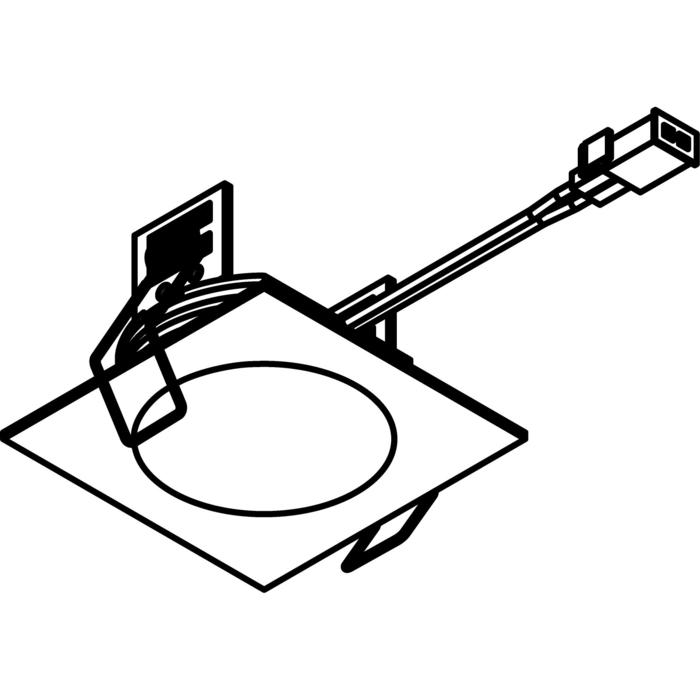 Drawing of 3181.S1/.. - KASTAR, built-in ceiling and wall light - square - with cable 0,75m + AMP plug - without transformer