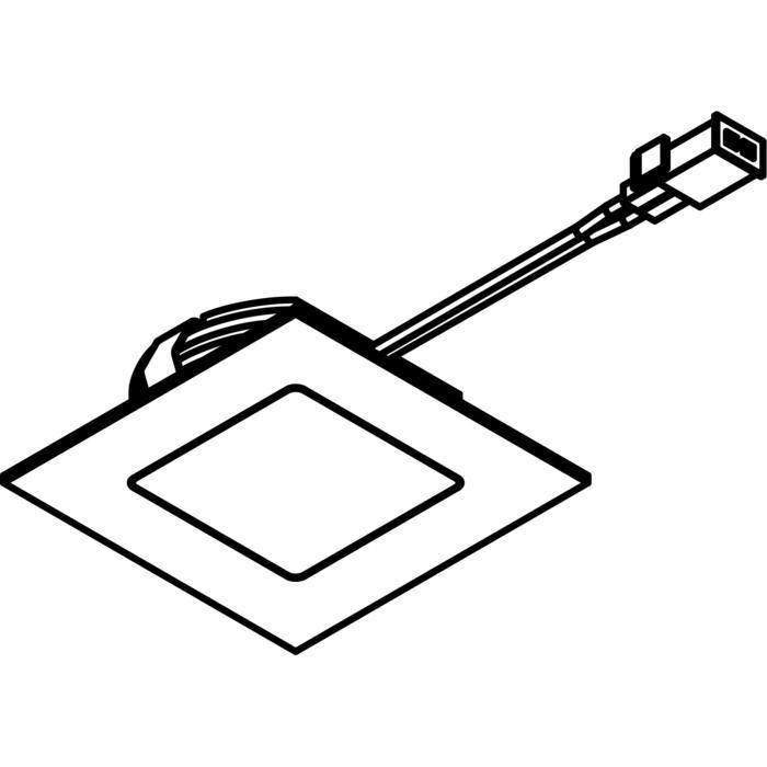 Drawing of 3182.S2/.. - KASTAR, inbouw plafond- en wandlicht - vierkant - met kabel 0,75m + AMP-stekker - zonder transfo