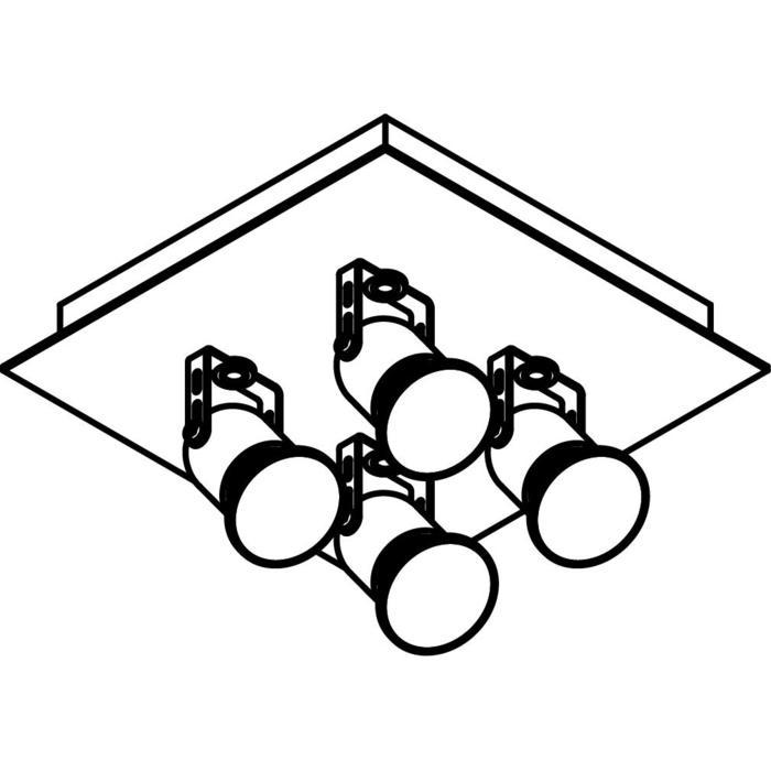 Drawing of 3203/.. - VICTOR, opbouw plafondverlichting - richtbaar - met basis Texo
