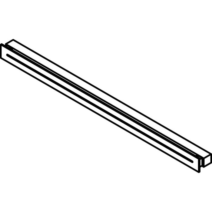 Drawing of 1772.1200/.. - INDY, built-up wall light - square - fixed - down/up - with electronic gear
